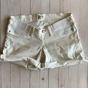 J. Crew Maternity Jean Shorts White